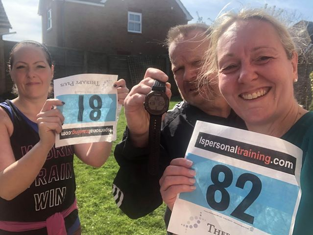 Pictures of Our Virtual Finishers