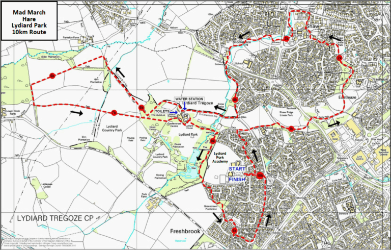 Mad March Hare Lydiard Park 10k Route image