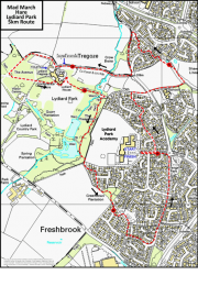Mad March Hare Lydiard Park 5k Route image